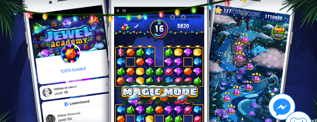 Jewel Academy arrives for Xmas to Instant Games by Facebook